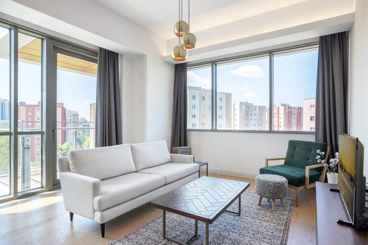 1 bedroom furnished apartment in Nidapark - 334 334, Huzur, Istanbul, photo 1