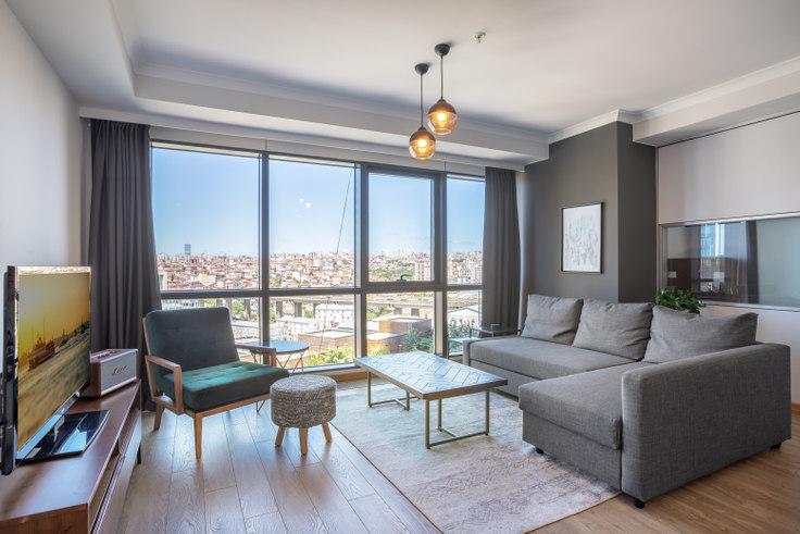 1 bedroom furnished apartment in Varyap Meridian - 342 342, Batı Ataşehir, Istanbul, photo 1