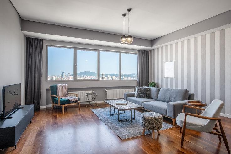 3 bedroom furnished apartment in Palladium - 344 344, Batı Ataşehir, Istanbul, photo 1