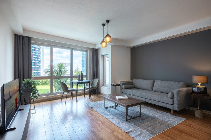 1 bedroom furnished apartment in Andromeda - 371 371, Batı Ataşehir, Istanbul, photo 1