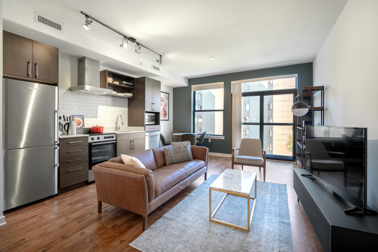 1 bedroom furnished apartment in The Aspen, 1011 4th St NW 120, Mount Vernon, Washington D.C., photo 1