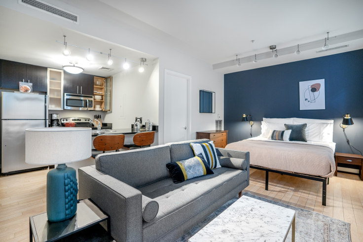 Studio furnished apartment in The Woodward, 733 15th St NW 122, Downtown, Washington D.C., photo 1