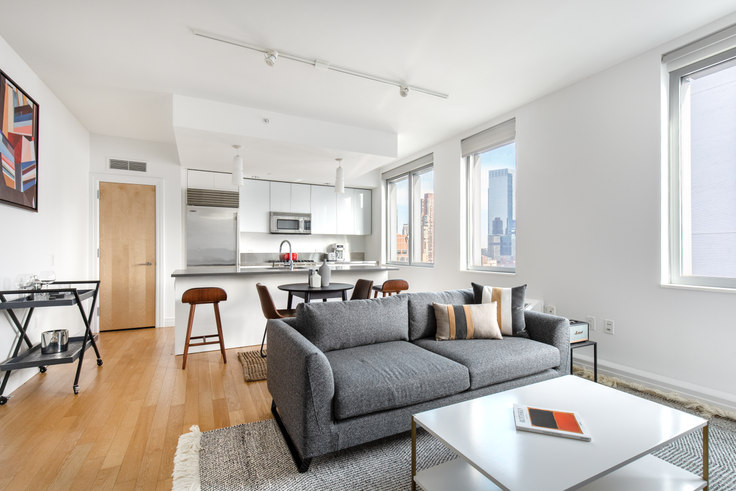 2 bedroom furnished apartment in Instrata Mercedes House, 550 W 54th St 360, Midtown West, New York, photo 1