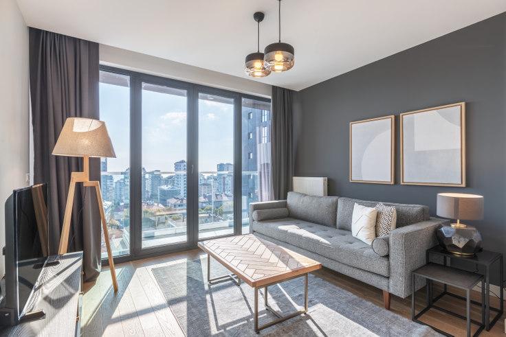 1 bedroom furnished apartment in Kontek Düet - 394 394, Göztepe, Istanbul, photo 1