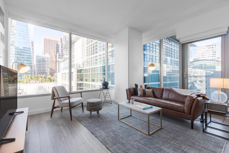 2 bedroom furnished apartment in 33 Tehama St 215, Rincon Hill, San Francisco Bay Area, photo 1