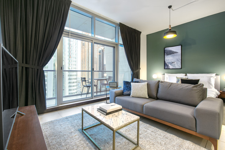 Studio furnished apartment in Indigo Studio 551, Indigo Tower, Dubai, photo 1