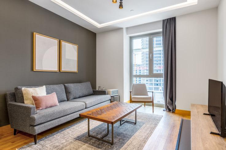 1 bedroom furnished apartment in Sarphan Finans Park - 439 439, Ümraniye, Istanbul, photo 1