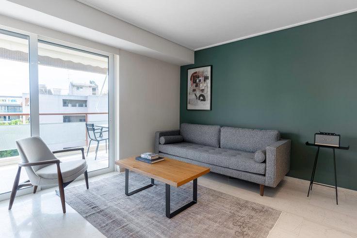 1 bedroom furnished apartment in Lampraki III 808, Glyfada, Athens, photo 1