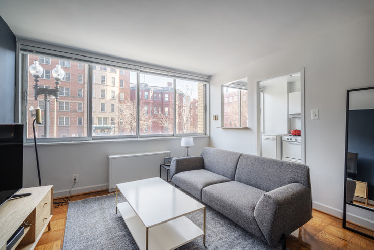 Studio furnished apartment in The Seville, 1401 N St NW 152, Logan Circle, Washington D.C., photo 1