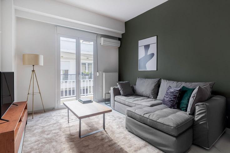 2 bedroom furnished apartment in Evgeniou Voulgareos 817, Mets - Kallimarmaro, Athens, photo 1