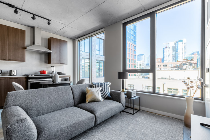 Studio furnished apartment in Union West Apartments, 939 W Washington Blvd 191, West Loop, Chicago, photo 1