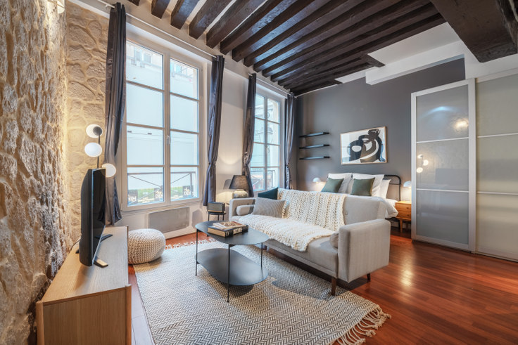 Studio furnished apartment in Rue de la Verrerie 1, Le Marais - Saint-Paul, Paris, photo 1