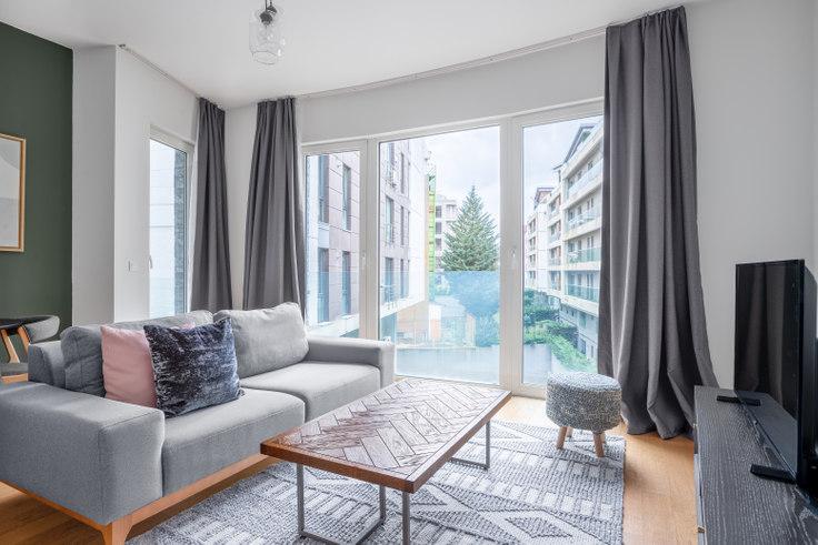 1 bedroom furnished apartment in Larus Palas - 480 480, Göktürk, Istanbul, photo 1