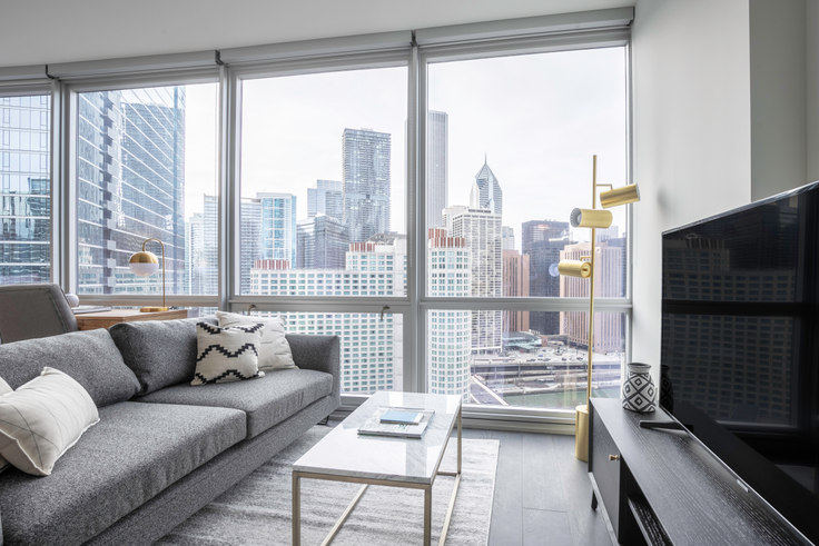 Studio furnished apartment in 465 N Park Dr 215, Streeterville, Chicago, photo 1
