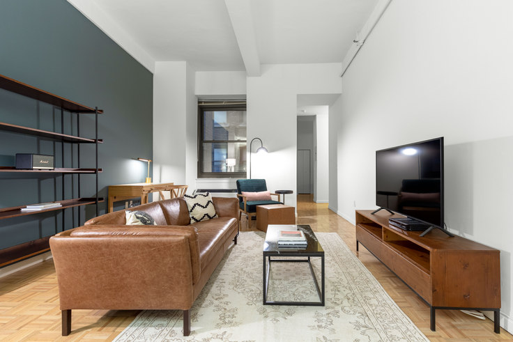 Studio furnished apartment in 85 John St 441, Financial District, New York, photo 1