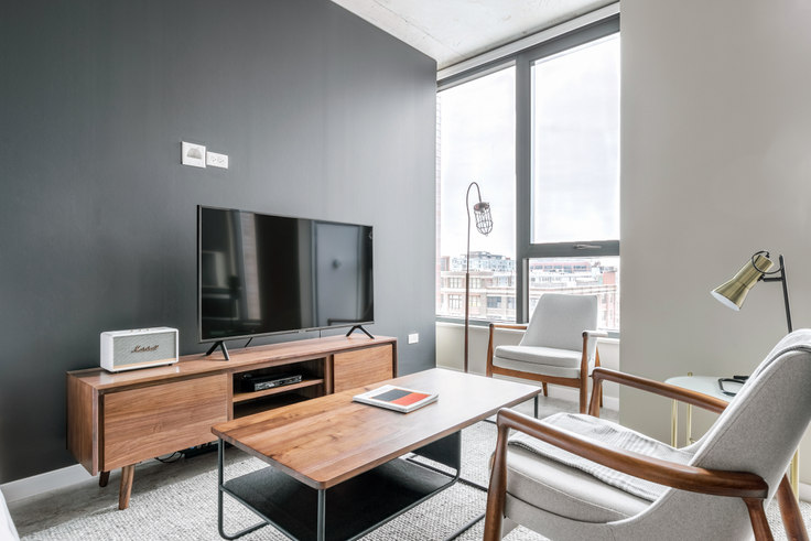 Studio furnished apartment in Union West Apartments, 939 W Washington Blvd 253, West Loop, Chicago, photo 1