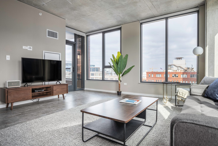 2 bedroom furnished apartment in Union West Apartments, 939 W Washington Blvd 254, West Loop, Chicago, photo 1