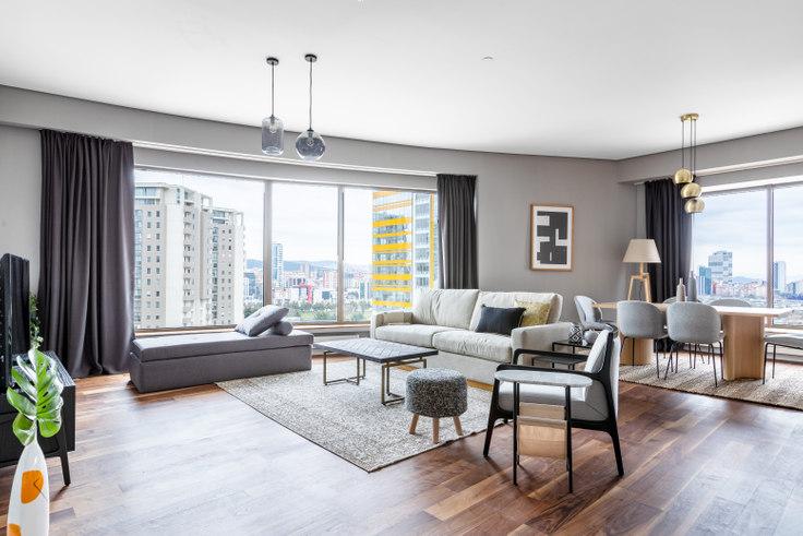 3 bedroom furnished apartment in Palladium Residence - 497 497, Batı Ataşehir, Istanbul, photo 1