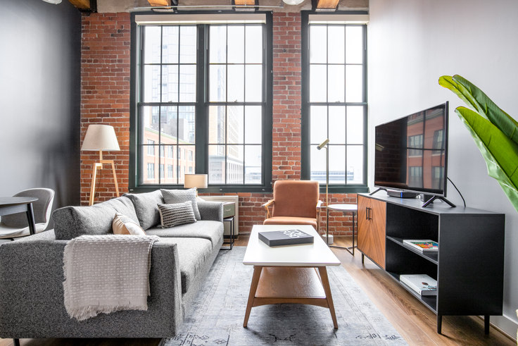 Studio furnished apartment in The Muse, 63 Melcher St 260, Fort Point, Boston, photo 1