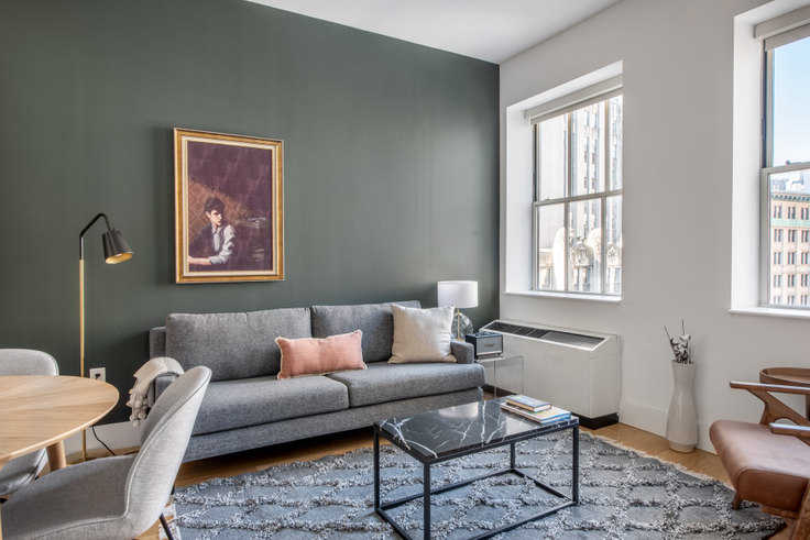 2 bedroom furnished apartment in 63 Wall St 497, Financial District, New York, photo 1