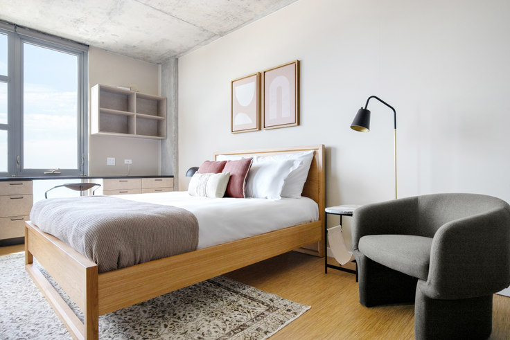 Studio furnished apartment in SoNu Digs, 1515 N Fremont St 316, Lincoln Park, Chicago, photo 1