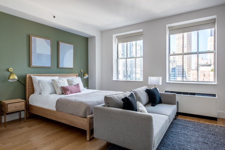 Studio furnished apartment in 63 Wall St 499, Financial District, New York, photo 1