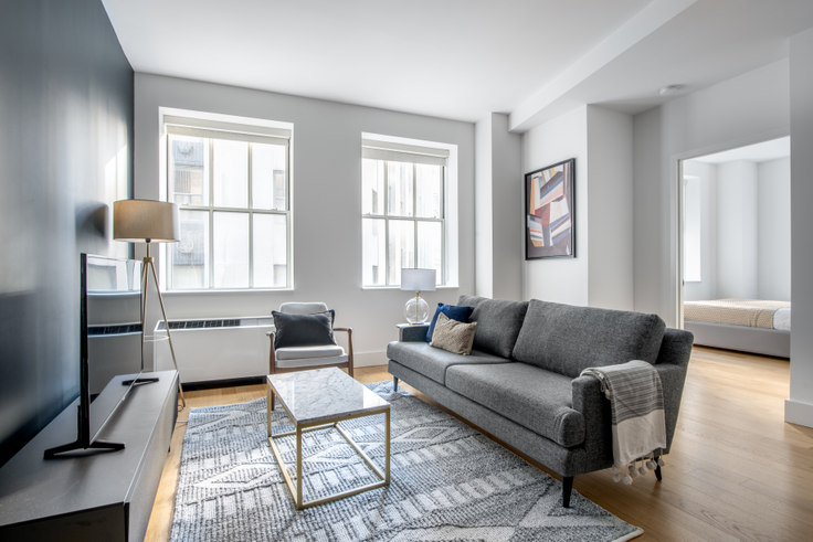 1 bedroom furnished apartment in 63 Wall St 500, Financial District, New York, photo 1