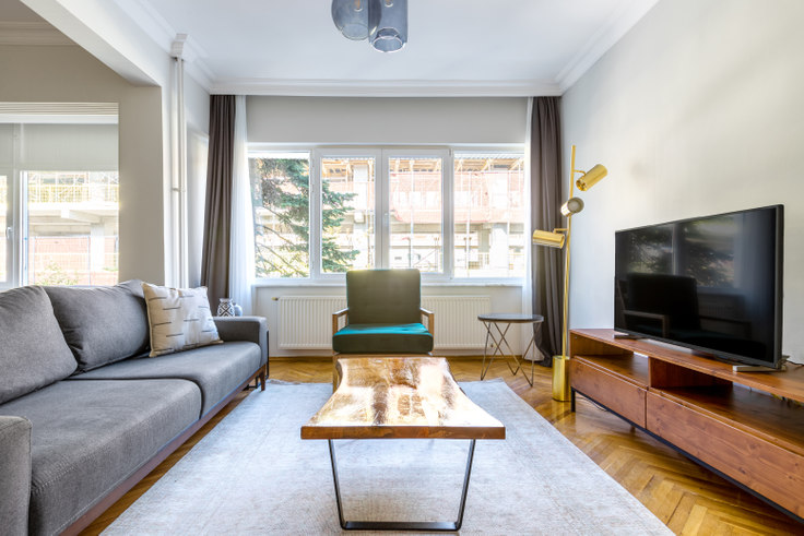 3 bedroom furnished apartment in Dogan - 568 568, Etiler, Istanbul, photo 1