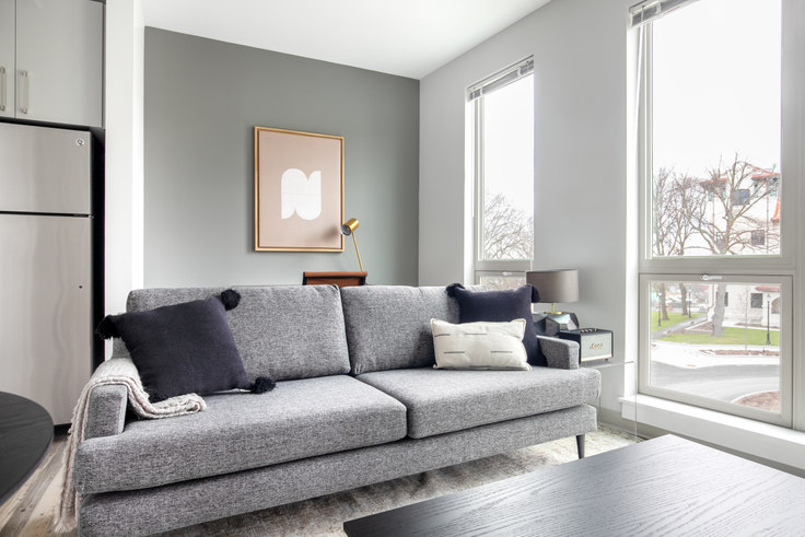 Studio furnished apartment in The Overlook at St. Gabriel's, 175 Washington St 320, Brighton, Boston, photo 1