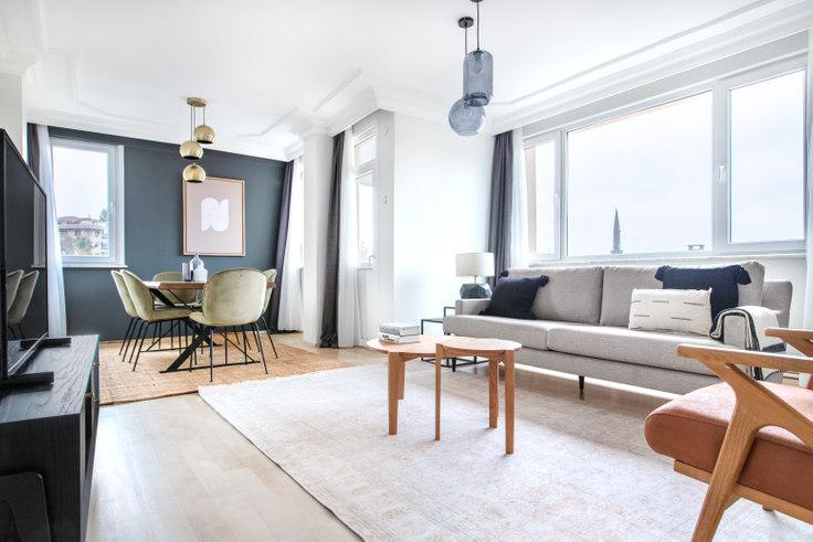 3 bedroom furnished apartment in Hareket Sitesi - 587 587, Etiler, Istanbul, photo 1
