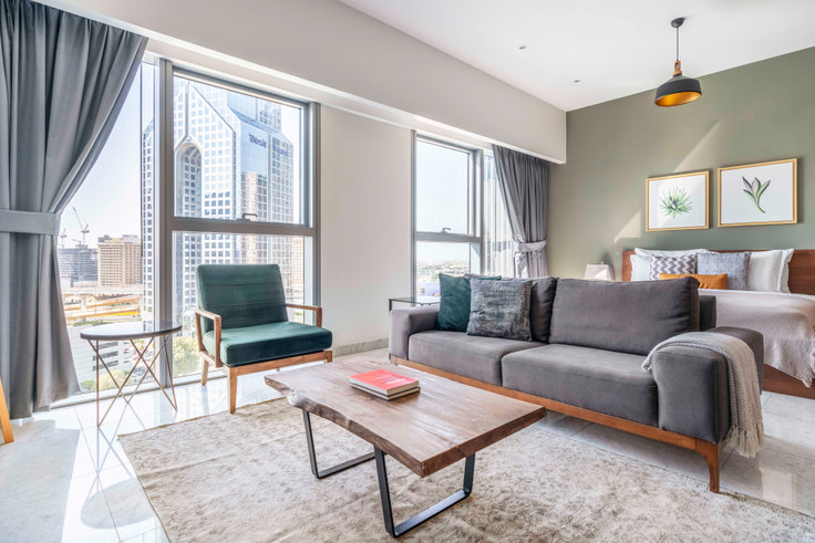 Studio furnished apartment in Central Park Studio III 677, Central Park Tower, Dubai, photo 1