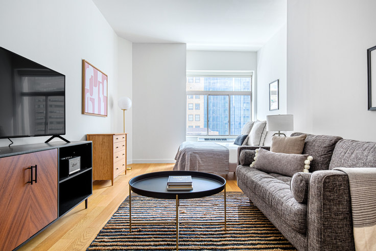Studio furnished apartment in 90 Washington St 542, Financial District, New York, photo 1