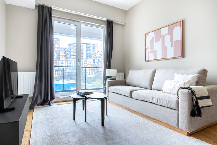 1 bedroom furnished apartment in Seba Suites - 609 609, Kagithane, Istanbul, photo 1