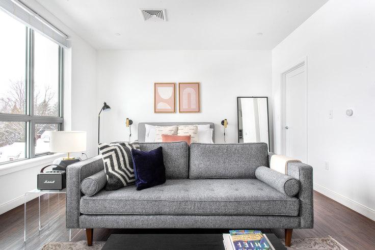 Studio furnished apartment in Trio Newton, 845 Washington St 352, Newton, Boston, photo 1