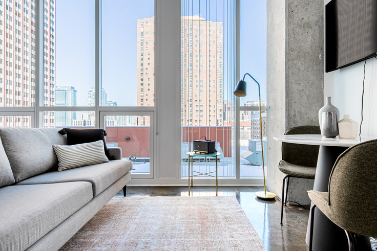 Studio furnished apartment in Bush Temple, 108 W Chicago Ave 364, River North, Chicago, photo 1