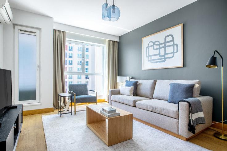 1 bedroom furnished apartment in Ağaoğlu Sky Towers - 645 645, Doğu Ataşehir, Istanbul, photo 1