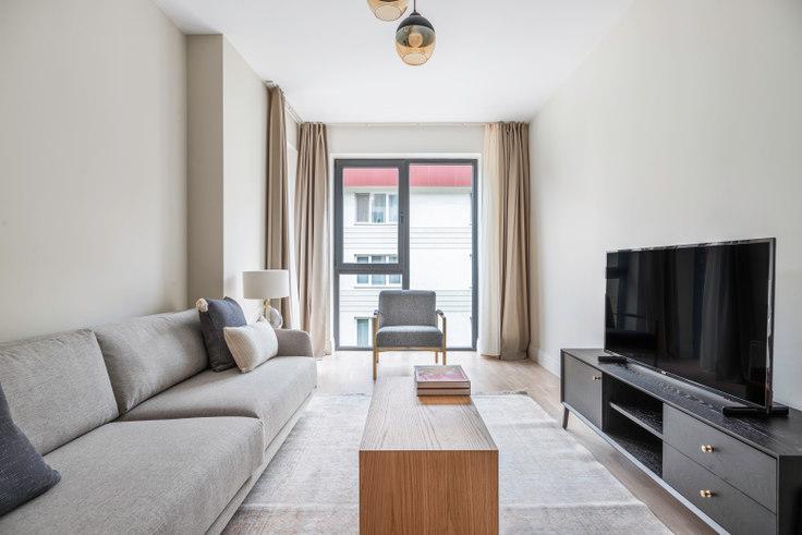 1 bedroom furnished apartment in Koray Bianco - 648 648, Göktürk, Istanbul, photo 1