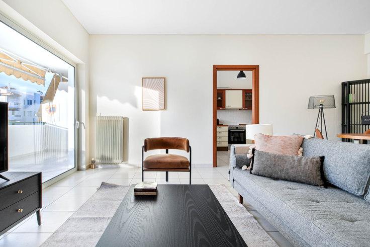 2 bedroom furnished apartment in Iraklitou 1002, Glyfada, Athens, photo 1