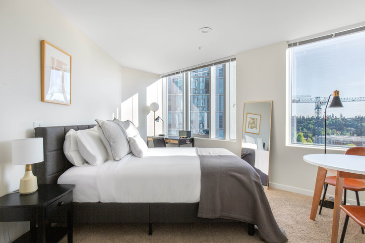 Studio furnished apartment in Soma Towers - Bellevue, 288 106th Ave NE 116, Bellevue, Seattle, photo 1