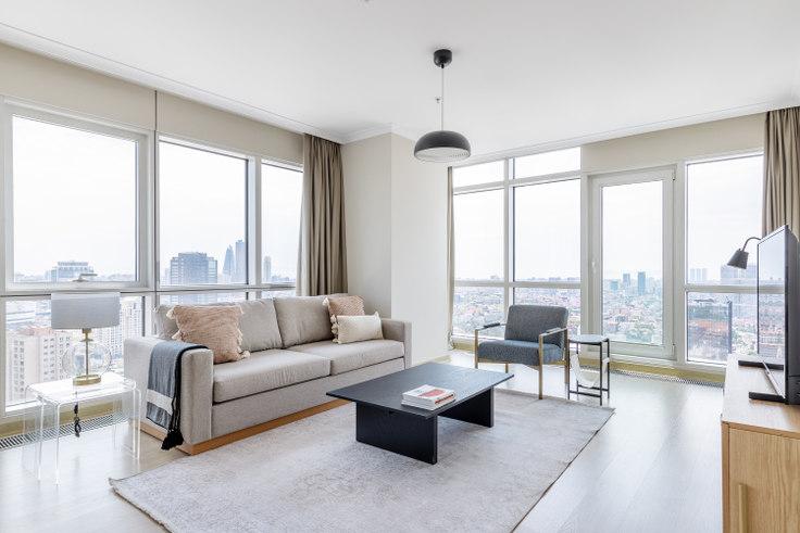 3 bedroom furnished apartment in Varyap Meridian - 661 661, Batı Ataşehir, Istanbul, photo 1