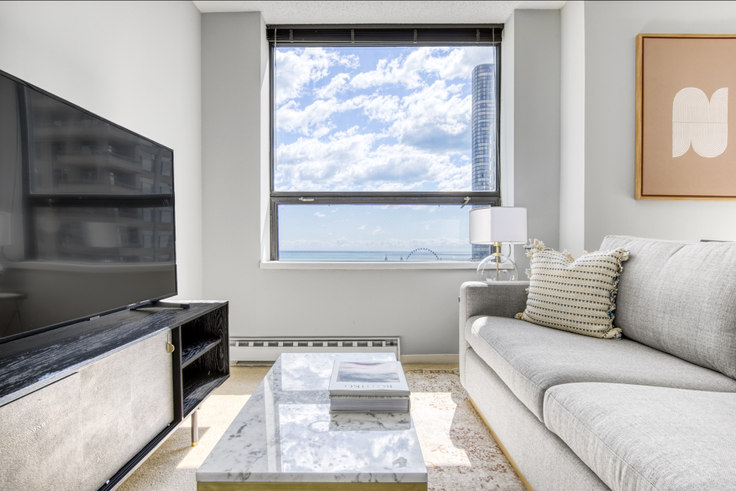 Studio furnished apartment in Lake Shore Plaza,  445 E Ohio St 406, Streeterville, Chicago, photo 1