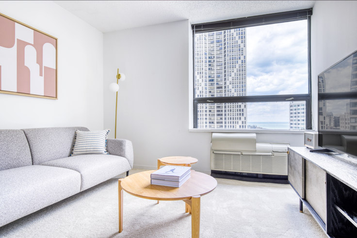 1 bedroom furnished apartment in Lake Shore Plaza,  445 E Ohio St 408, Streeterville, Chicago, photo 1