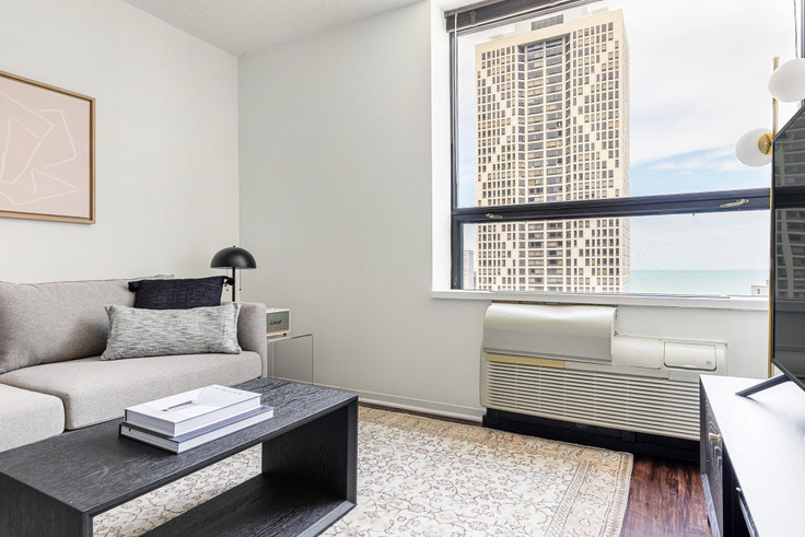 1 bedroom furnished apartment in Lake Shore Plaza,  445 E Ohio St 409, Streeterville, Chicago, photo 1