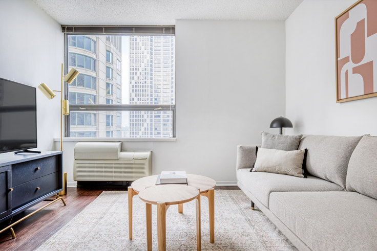1 bedroom furnished apartment in Lake Shore Plaza,  445 E Ohio St 412, Streeterville, Chicago, photo 1