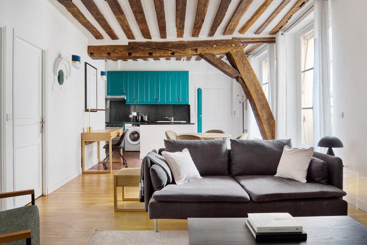 2 bedroom furnished apartment in Rue Saint-Louis en l'Île 91, Île Saint-Louis, Paris, photo 1