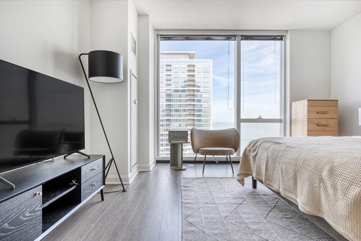 Studio furnished apartment in 500 N Lake Shore Dr 436, Streeterville, Chicago, photo 1