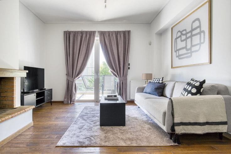 2 bedroom furnished apartment in Kriezi VII 1093, Chalandri, Athens, photo 1