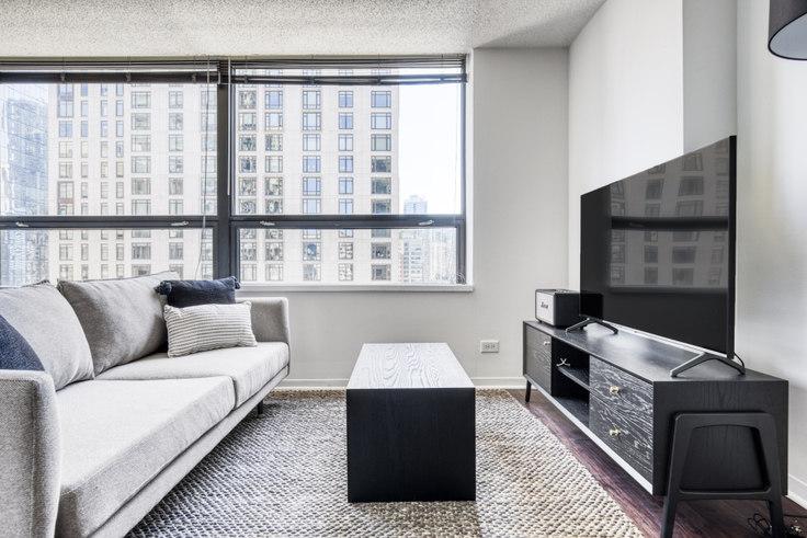 Studio furnished apartment in Lake Shore Plaza,  445 E Ohio St 445, Streeterville, Chicago, photo 1